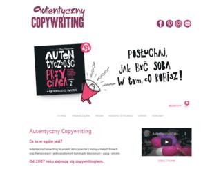autentycznycopywriting.pl screenshot