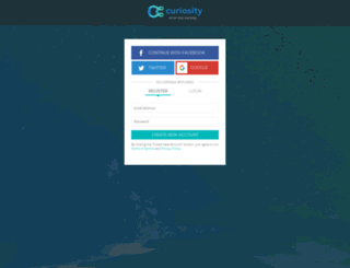 auth.curiosity.com screenshot