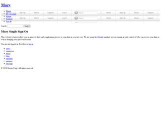 auth2.mozy.com screenshot