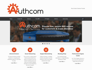 authcom.com screenshot