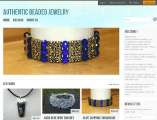 authenticbeadedjewelry.com screenshot