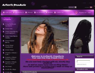 authenticdreadlocks.co.uk screenshot