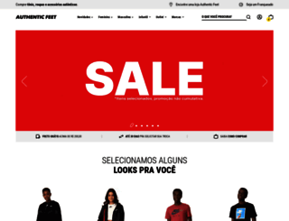 authenticfeet.com.br screenshot