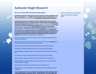authenticheightresearch.blogspot.fr screenshot
