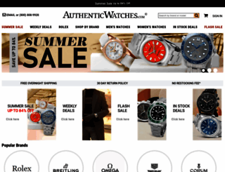 authenticwatches.com screenshot