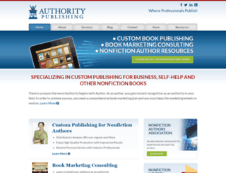 authoritypublishing.com screenshot
