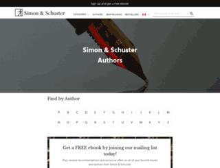 authors.simonandschuster.ca screenshot