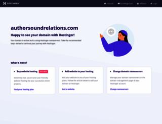 authorsoundrelations.com screenshot