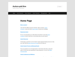 autism-pdd.net screenshot
