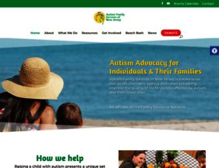 autismfamilyservicesnj.org screenshot