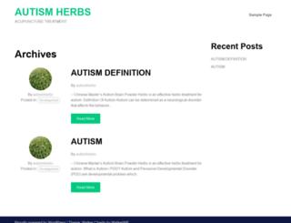 autismherbs.com screenshot