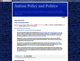 autismpolicyblog.com screenshot