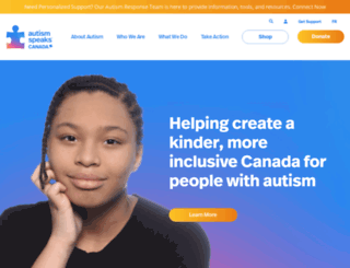 autismspeaks.ca screenshot