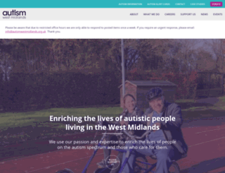 autismwestmidlands.org.uk screenshot