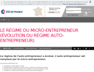 auto-entrepreneur.cci.fr screenshot