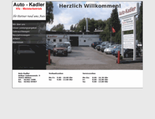 auto-kadler.de screenshot