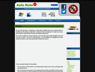 auto-mute.com screenshot