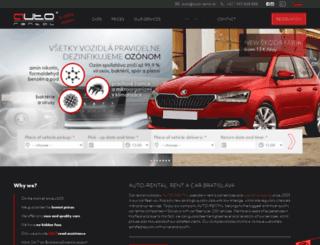 auto-rental.sk screenshot