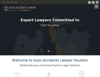 autoaccidentlawyerinhouston.com screenshot