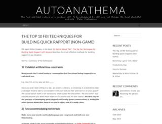 autoanathema.wordpress.com screenshot