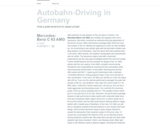 autobahndriving.wordpress.com screenshot