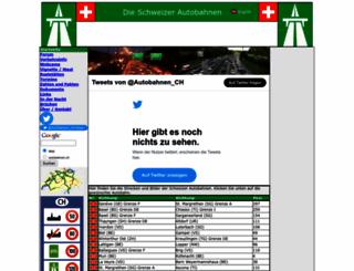 autobahnen.ch screenshot
