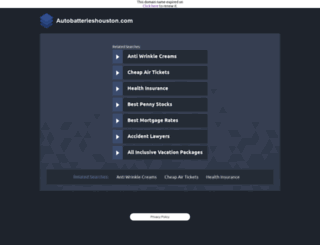autobatterieshouston.com screenshot