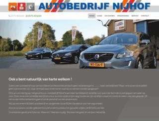 autobedrijfnijhof.nl screenshot