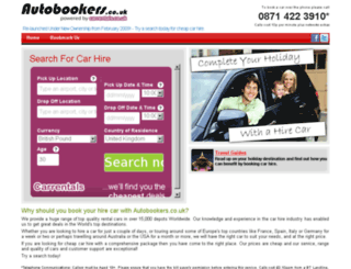 autobookers.co.uk screenshot
