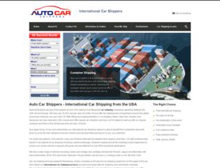 autocarshippers.com screenshot