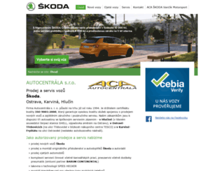autocentrala.cz screenshot