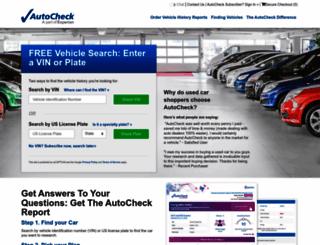 autocheck.com screenshot