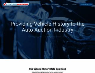 autocheckauctions.com screenshot