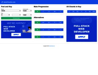 autochords.com screenshot