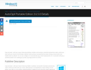 autoclipx-portable-edition.windows10compatible.com screenshot