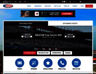 autoclubspeedway.com screenshot