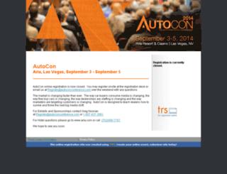 autocon2014.theregistrationsystem.com screenshot