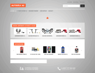 autodily-az.cz screenshot