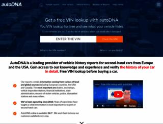 autodna.com screenshot