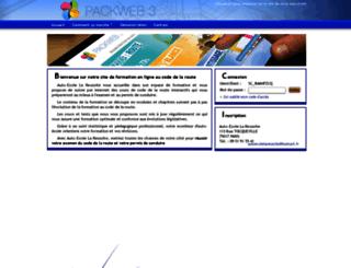 autoecole-reussite-paris.packweb2.com screenshot