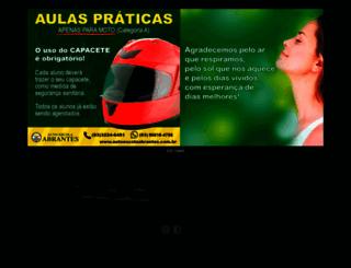 autoescolaabrantes.com.br screenshot