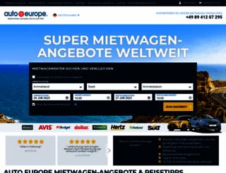autoeurope.de screenshot