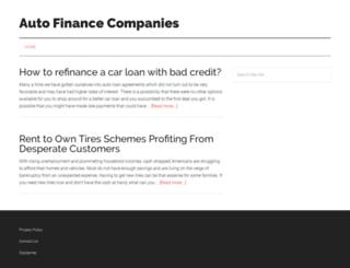 autofinancecompanies.net screenshot