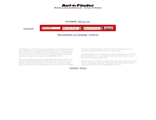 autofinder.co.uk screenshot