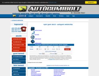 autogumibolt.hu screenshot