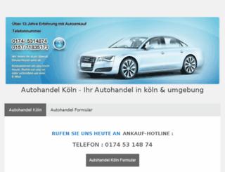 autohandel-koeln.jimdo.com screenshot