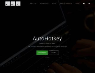 autohotkey.com screenshot