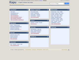 autok.kapu.hu screenshot