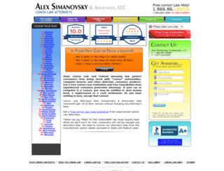 autolemonlaws.com screenshot