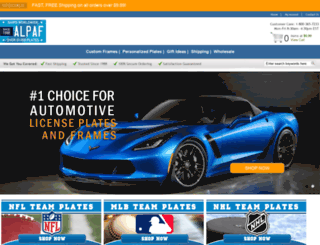 autolicenseplatesandframes.com screenshot